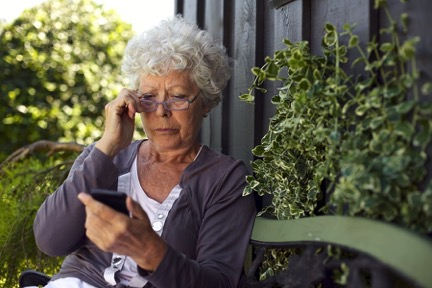 texting and the elderly, does technology alienate the elderly?