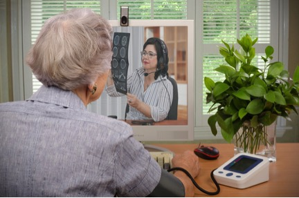What is telemedicine? Patient and caretaker engaging in telemedicine
